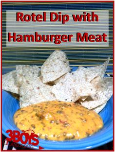 Rotel Dip with Hamburger Meat Rotel Dip with Hamburger Meat Recipe  I add taco seasoning to the meat. Makes it even better!