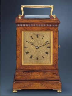 Antique Carriage Clock with Burled Wood Case Signed Charles Frodsham