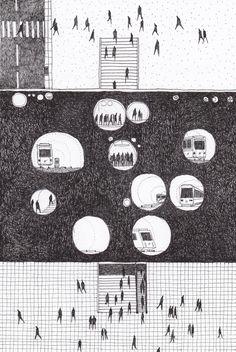 Architecture Drawing / Dessin / Rotring / Pen / de Clément Masr