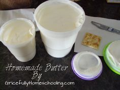 Make your own butter - show kids how butter was made - Gricefully Homeschooling