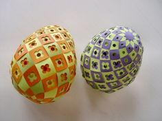 Free downloadable template for egg weaving, for those looking for an Easter egg alternative...