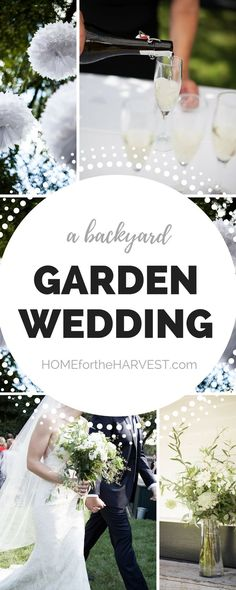 This backyard wedding is full of DIY tips and garden wedding inspiration to use at your own relaxed backyard wedding event | Home for the Harvest