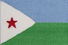 The Republic of Djibouti. Beautifully stitched postcards by the talented Ackworth & District Branch of the Embroiderers' Guild.  http://www.embroiderersguild.com