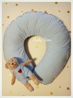 Cuscino allattamento bebé, con pupazzo staccabile.