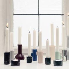 Ferm Living Kerzenhalter Marble 8cm, schwarz #FermLiving #artvoll #TopMarke www.artvoll.de