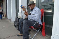 New Orleans street musicians.