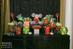 Candy buffet: I'll probably use candy corn, honey roasted peanuts, M, caramel corn, and something else.