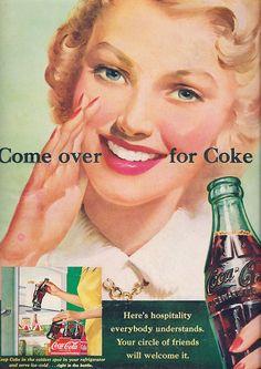 Ad- Coke -Come over for Coke 1951