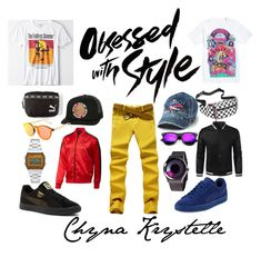 """Obsessed w/ Swag"" by chynakrystelle on Polyvore featuring Puma, Hot Topic, American Eagle Outfitters, Santa Cruz Skateboards, Steve Madden, ZeroUV, Casio, men's fashion and menswear"