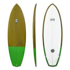 SO FRESH Surfboard Tiger fish 42 Super Brown Board