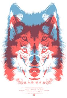 """And out come the wolves"" // Tshirt design by CranioDsgn , via Behance"