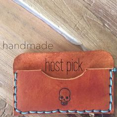 HP Handmade Leather Cardholder  Handmade Leather Cardholder // I ship same day from pet/smoke-free home // Handmade Accessories Key & Card Holders