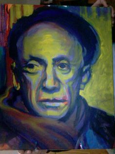A portrait of Pablo Picasso, Painted live at Collage: Diva Lounge.
