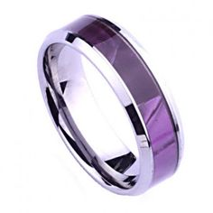 Royal 7mm Purple Resin Tungsten Ring