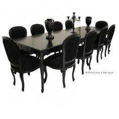 Versailles 10ft Dining Table - Black French Ornate Modern Baroque & Rococo Furniture www.fabulousandbaroque.com