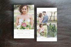 Business Card Templates for Wedding Photographers - Photo Business Cards - Photography Templates for Photoshop - c0042 on Etsy, $15.00