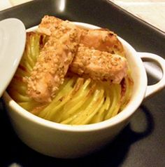 Patate in cocotte con salmone al sesamo #italianfood  #recipes #potato