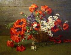 Clara von Sivers (1854-1924) German Painter. Flowers ~ Artists and Art