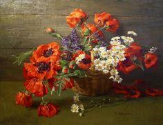Clara von Sivers (1854-1924) German Painter. Flowers ~ Artists and Art