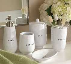 The Many Faces Of Mom Makeover Bathroom Accessories