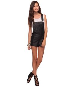 Faux Leather Shortalls | FOREVER21 - 2000028452