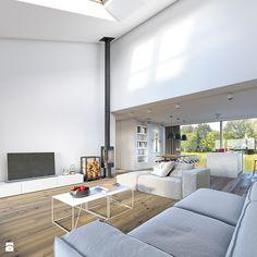Salon, styl skandynawski - zdjęcie od DOMY Z WIZJĄ - nowoczesne projekty domów