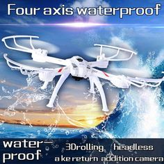 Peradix 2.4GHz 4CH 6Axis RC Plane Gyro Waterproof  RC Quadcopter Drone Headless One Key Return Feature 360 Roll RC Airplane