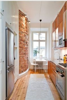 Love the curved brick wall!