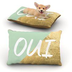 """KESS Original """"Oui Gold"""" Metallic Dog Bed"""