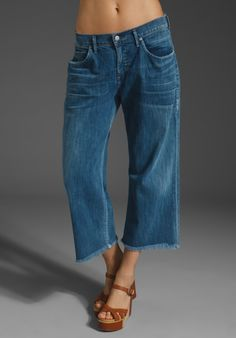 Citizens Of Humanity Jeans Fusion Billow Pocket Loose Fit Crop in Runway