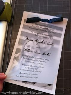 photo wedding invites with velum overlay | Vellum Overlay Wedding Invitations