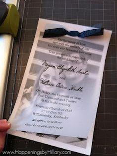 photo wedding invites with velum overlay   Vellum Overlay Wedding Invitations