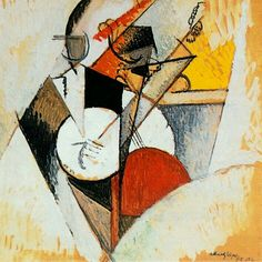 Albert Gleizes, Composition pour Jazz, from the Solomon R. Guggenheim Museum, New York Gouache, Composition, Jazz Art, French Artists, Sculpture, Gravure, Abstract Canvas, Custom Posters, Online Art