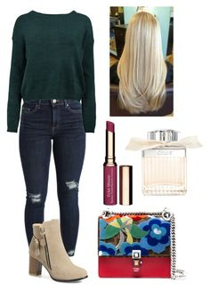 """Casual."" by frenkiefashion on Polyvore featuring Miss Selfridge, Boohoo, Fendi, Clarins and Chloé"