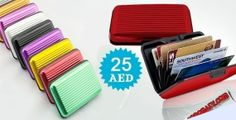 Stylish Aluminum Wallet for Men & Women. Available in 6 different colors for 25 AED.  to check/buy the product, click on the below link: http://www.kobonaty.com/products/deal/kobonaty-direct/1017/
