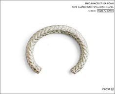 Rope casted into metal with enamel bracelet by JACLYN MAYER