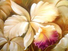 Pintura a Óleo Sobre Tela - Eduardo Mecenero: Orquídeas - Douglas Frasquetti