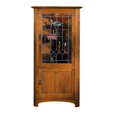 1000 images about stickley mission and american craftsman for Mission style corner hutch