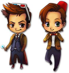 X and XI by *TsaoShin on deviantART (Doctor Who chibi anime style fanart) I want these as stickers