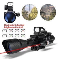 Ar15 Scopes 4-12x50EG Dual Illuminated Tactical Rifle Sco...