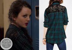 Shop Your Tv: The Carrie Diaries: Season 2 Episode 5 Dorrit's Lace Back Plaid Shirt