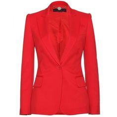 Stella McCartney Wool Blazer ($933) ❤ liked on Polyvore
