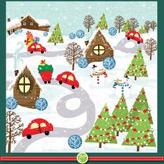 You will receive 6 beautifully high resolution JPEG format in 300 dpi and 6 PNG files which were created at Christmas Clipart, Christmas Printables, Christmas Themes, Christmas Cards, Christmas Decorations, Xmas, Sites Like Etsy, Craft Sites, Envelope Art