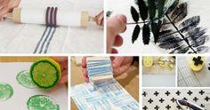 10 ideas diy para estampar tus tejidos y darles así un toque original. Cuadros Diy, Hobbies And Crafts, Beautiful Roses, Chalk Paint, Stencils, Diy Crafts, Wall Art, Sewing, Painting