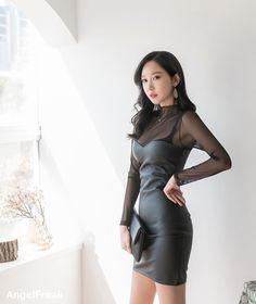 Fashion Models, Fashion Outfits, Womens Fashion, Asian Woman, Asian Girl, Leather Dresses, Tight Dresses, Asian Fashion, Gorgeous Women