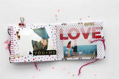 Mini album para San Valentín   #scrapboo #album #love #inspiration