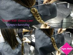 """""""Donate Hair- Donate Love"""" Δωρίστε τα μαλλιά σας σε παιδιά με καρκίνο Donating Hair, Shiny Hair, Olympia, Hair Styles, Beauty, Beleza, Brighter Hair, Hairdos, Haircut Styles"""
