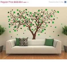 Big Maple tree wall decal sticker mural vinyl by StyleandApply  sc 1 st  Pinterest & Maple Tree Decal Free Shipping Rustic by StickyStyleDesigns   cabin ...