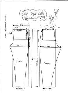 Most up-to-date Screen sewing pants for women Concepts 55 Ideas For Sewing Clothes Diy Dress Fit Sewing Pants, Sewing Clothes, Diy Clothes, Dress Sewing Patterns, Clothing Patterns, Costura Fashion, Bodice Pattern, Make Your Own Clothes, Sewing Lessons