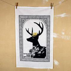 A very dandy deer on a tea towel? Why not?